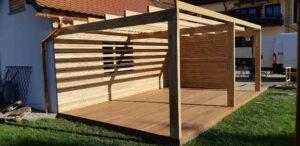 Les za lesene terase